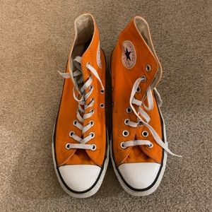 Orange Hightop Converse
